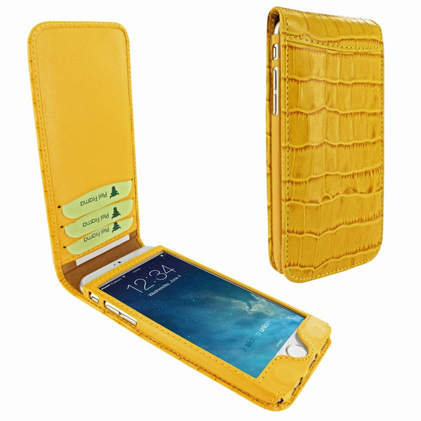 Piel Frama 761 Yellow Crocodile Classic Magnetic Leather Case for Apple iPhone 7