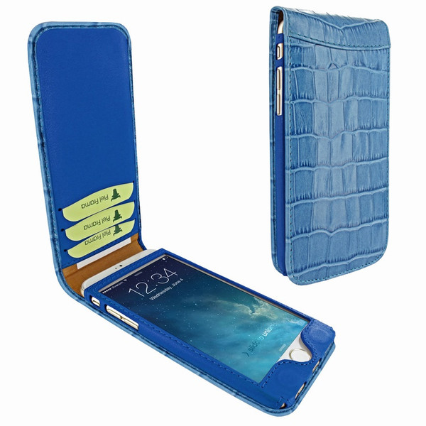 Piel Frama 766 Blue Crocodile Classic Magnetic Leather Case for Apple iPhone 7 Plus