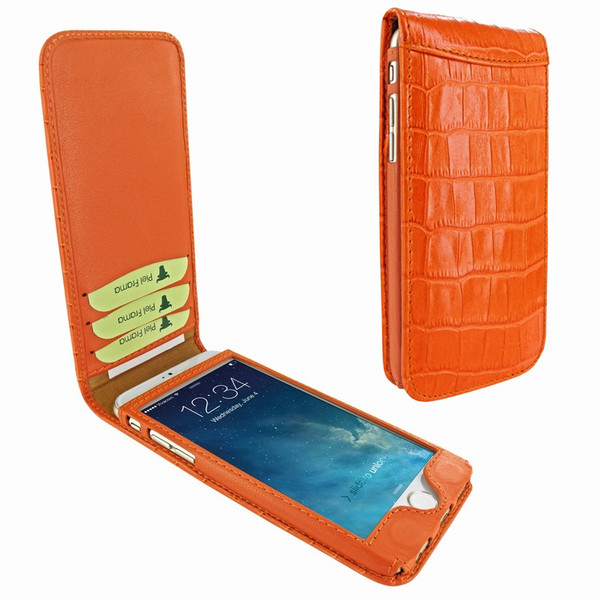 Piel Frama 766 Orange Crocodile Classic Magnetic Leather Case for Apple iPhone 7 Plus