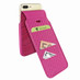 Piel Frama 765 Pink Crocodile iMagnumCards Leather Case for Apple iPhone 7 Plus
