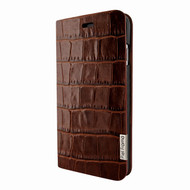 Piel Frama 767 Brown Crocodile FramaSlimCards Leather Case for Apple iPhone 7 Plus