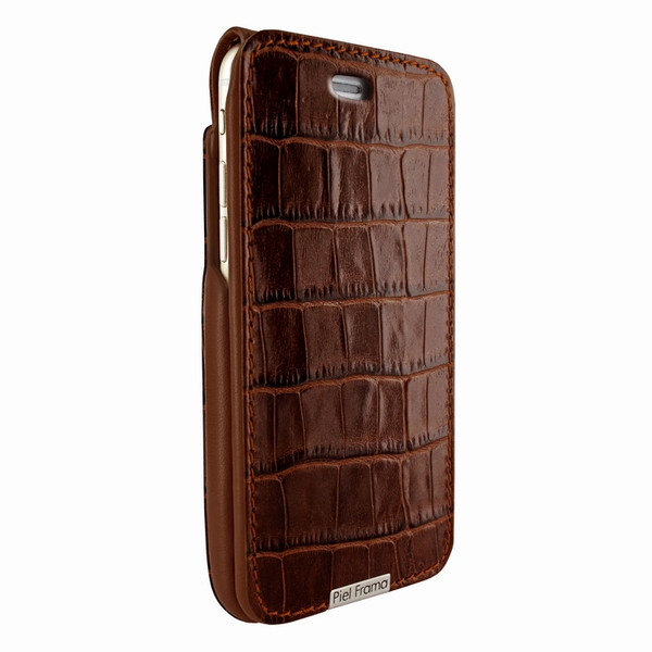 Piel Frama 770 Brown Crocodile UltraSliMagnum Leather Case for Apple iPhone 7