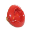 Replacement Red Metal Tab for Piel Frama Leather Cases
