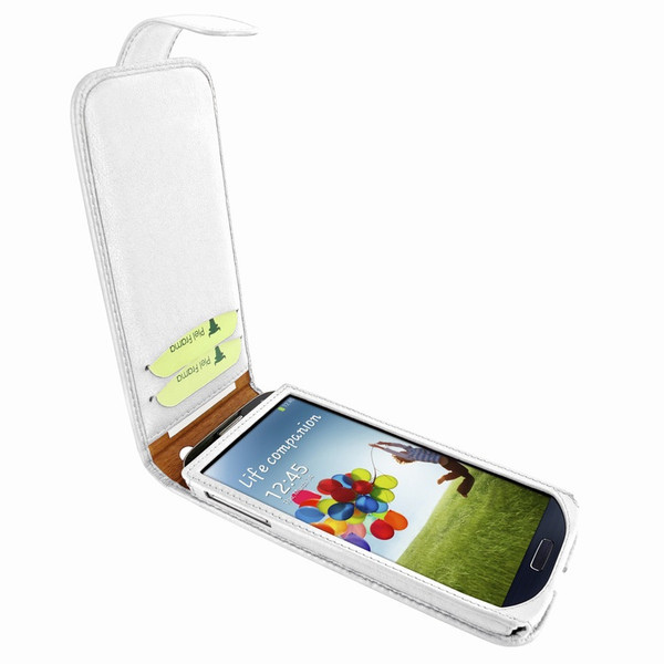 Piel Frama 620 White Magnetic Leather Case for Samsung Galaxy S4