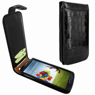 Piel Frama 620 Black Crocodile Magnetic Leather Case for Samsung Galaxy S4