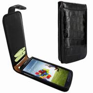 Piel Frama 620 Black Crocodile Magnetic Leather Case for Samsung Galaxy S4