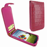 Piel Frama 620 Pink Crocodile Magnetic Leather Case for Samsung Galaxy S4