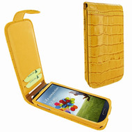 Piel Frama 620 Yellow Crocodile Magnetic Leather Case for Samsung Galaxy S4