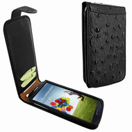 Piel Frama 620 Black Ostrich Magnetic Leather Case for Samsung Galaxy S4