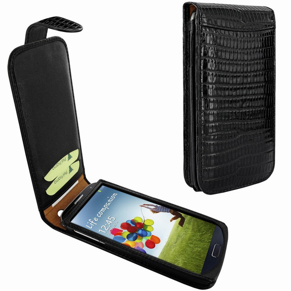 Piel Frama 620 Black Lizard Magnetic Leather Case for Samsung Galaxy S4