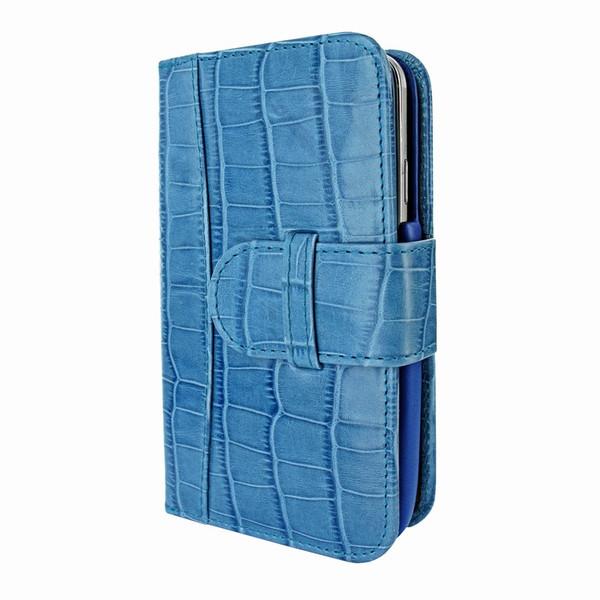 Piel Frama 622 Blue Crocodile Leather Wallet for Samsung Galaxy S4