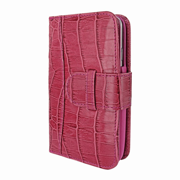 Piel Frama 622 Pink Crocodile Leather Wallet for Samsung Galaxy S4
