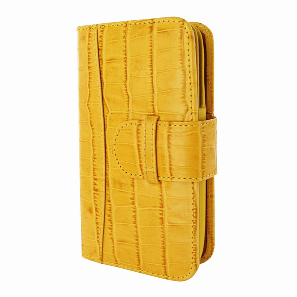 Piel Frama 622 Yellow Crocodile Leather Wallet for Samsung Galaxy S4