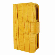 Piel Frama 671 Yellow Crocodile Leather Wallet for Samsung Galaxy S5