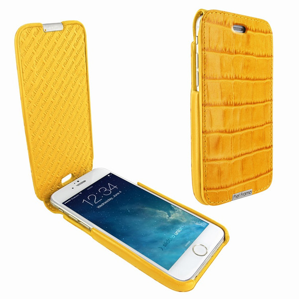 Piel Frama 676 iMagnum Yellow Crocodile Leather Case for Apple iPhone 6
