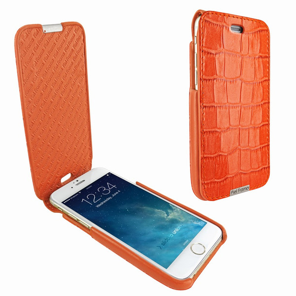 Piel Frama 676 iMagnum Orange Crocodile Leather Case for Apple iPhone 6