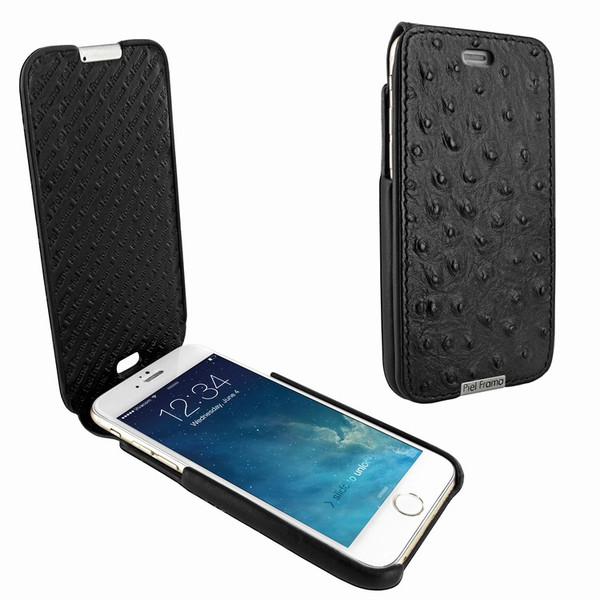 Piel Frama 676 Black Ostrich iMagnum Leather Case for Apple iPhone 6 / 6S / 7