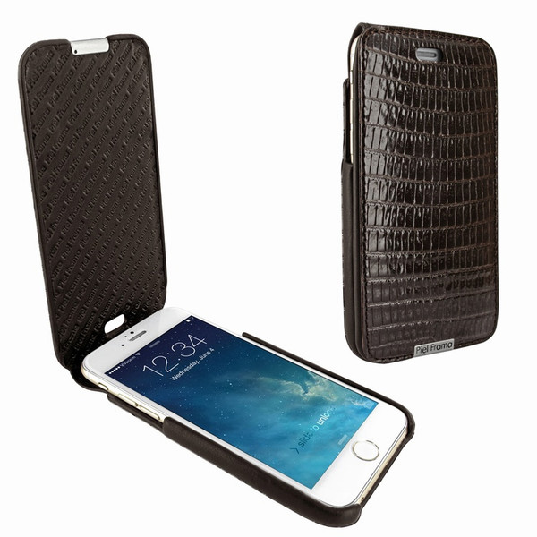 Piel Frama 676 iMagnum Brown Lizard Leather Case for Apple iPhone 6