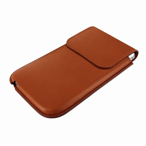 Piel Frama 692 Tan Leather Slim Pouch for Apple iPhone 6 Plus / 6S Plus / 7 Plus