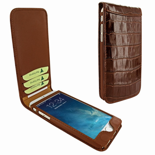 Piel Frama 689 Brown Crocodile Magnetic Leather Case for Apple iPhone 6 Plus