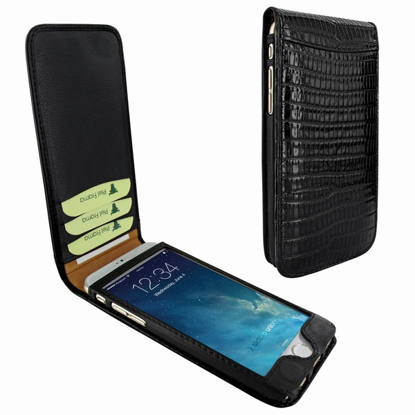 Piel Frama 689 Black Lizard Magnetic Leather Case for Apple iPhone 6 Plus