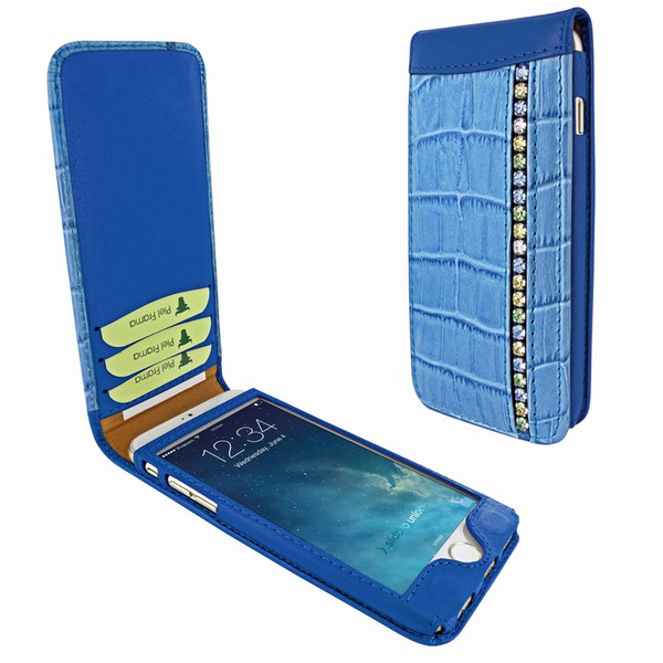 Piel Frama 689 Blue Swarovski Crocodile Magnetic Leather Case for Apple iPhone 6 Plus / 6S Plus