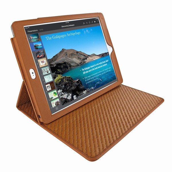 Piel Frama 694 Tan Cinema Magnetic Leather Case for Apple iPad Air 2