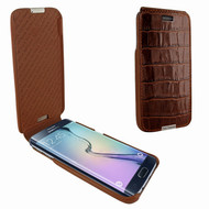 Piel Frama 714 Brown Crocodile iMagnum Leather Case for Samsung Galaxy S6
