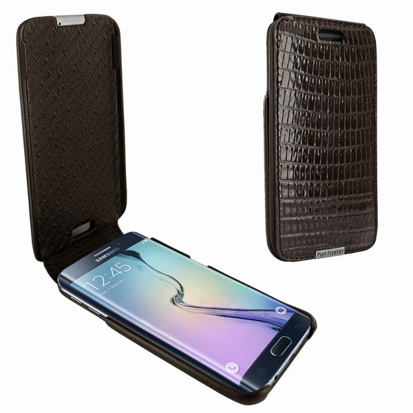 Piel Frama 714 Brown Lizard iMagnum Leather Case for Samsung Galaxy S6 Edge