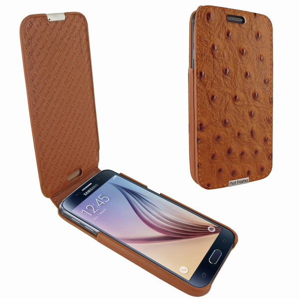 Piel Frama 713 Tan Ostrich iMagnum Leather Case for Samsung Galaxy S6