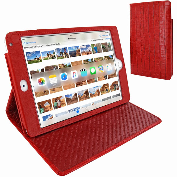 Piel Frama 722 Red Crocodile Cinema Magnetic Leather Case for Apple iPad mini 4