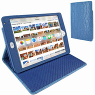 Piel Frama 722 Blue Crocodile Cinema Magnetic Leather Case for Apple iPad mini 4