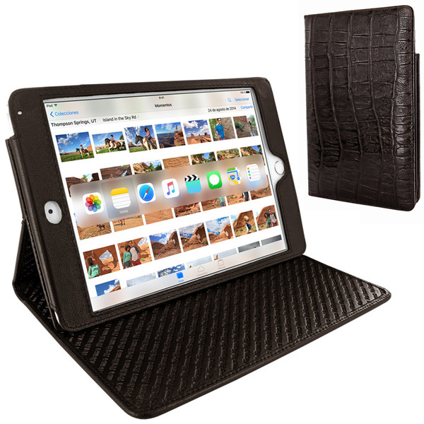 Piel Frama 722 Brown Wild Crocodile Cinema Magnetic Leather Case for Apple iPad mini 4