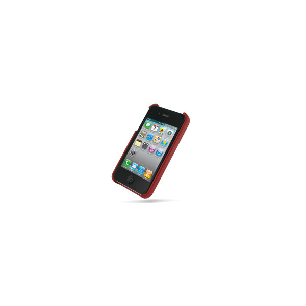 PDair Red Leather Back Cover for Apple iPhone 4 / 4S