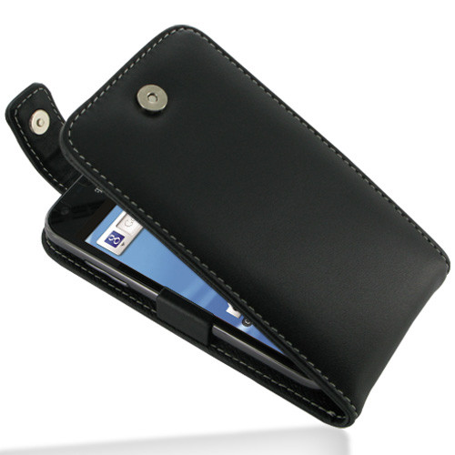PDair Black Leather FlipTop-Style Case for Samsung Galaxy S II (T-Mobile)