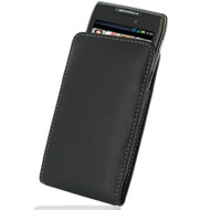 PDair Black Leather Vertical Pouch for Motorola RAZR MAXX