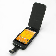 PDair Black Leather Flip-Style Case for Google Nexus 4