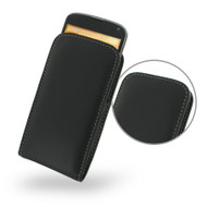 PDair Black Leather Vertical Pouch for Google Nexus 4