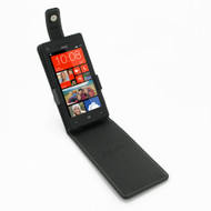 PDair Black Leather FlipTop-Style Case for HTC 8X