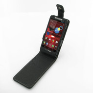 PDair Black Leather FlipTop-Style Case for Motorola Droid RAZR M