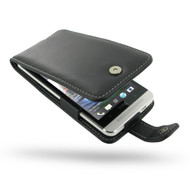 PDair Black Leather Flip-Style Case for HTC One