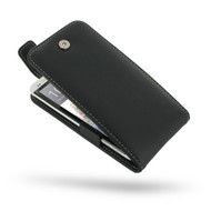 PDair Black Leather FlipTop-Style Case for HTC One