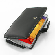 PDair Black Leather Book-Style Case for Samsung Galaxy Note 3