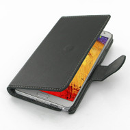 PDair Black Ultra Thin Leather Book-Style Case for Samsung Galaxy Note 3