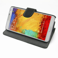 PDair Black Ultra Thin Leather Book-Stand Case for Samsung Galaxy Note 3