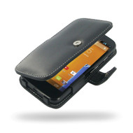PDair Black Leather Book-Style Case for Motorola Moto G