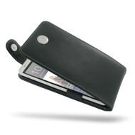 PDair Black Leather FlipTop-Style Case for HTC One Max