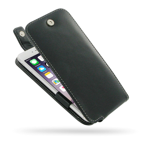 PDair Black Leather FlipTop-Style Case for Apple iPhone 6 Plus / 6S Plus