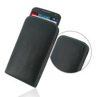 PDair Black Leather Vertical Pouch for Motorola Moto X (2nd Gen.)