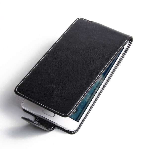 PDair Black Leather Flip-Style Case for Samsung Galaxy Note Edge